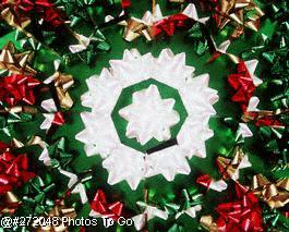 Christmas bows kaleidoscope pattern